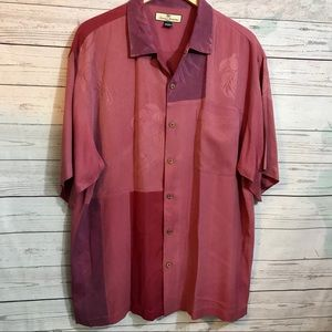 Silk Red Tommy Bahama Tropical Print Large